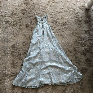 Urban outfitters blue & silver star dress medium